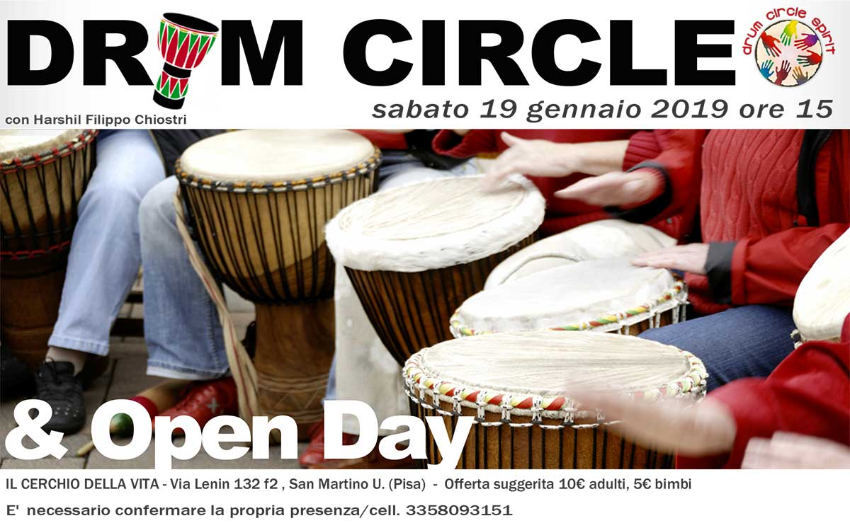 OpenDay Cerchio della Vita - DRUM CIRCLE con Harshil