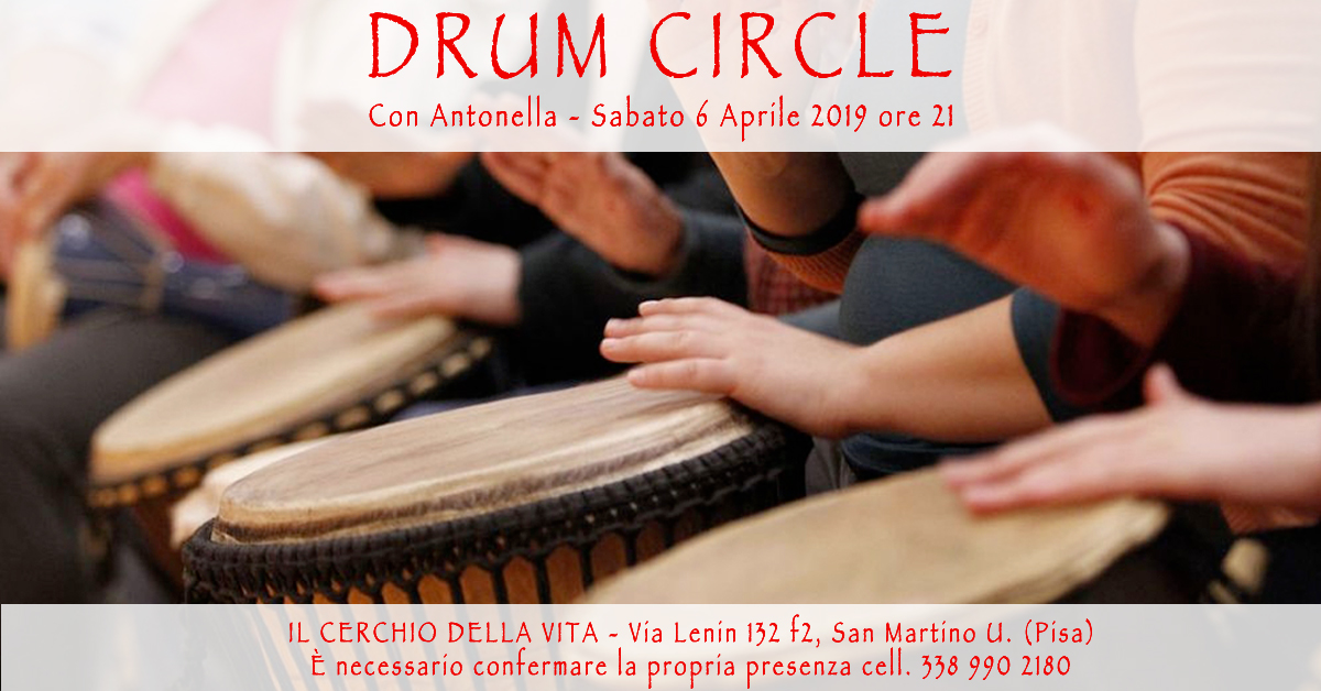 DRUM CIRCLE al Il Cerchio della Vita, Pisa